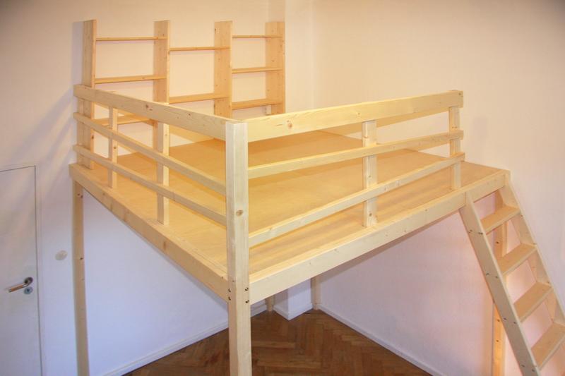 wie baue ich ein hochbett hochbett selber bauen. Black Bedroom Furniture Sets. Home Design Ideas